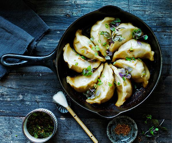 "[**Pork and cabbage pot-stickers**](https://www.gourmettraveller.com.au/recipes/browse-all/pork-and-cabbage-pot-stickers-12014|target=""_blank"")"