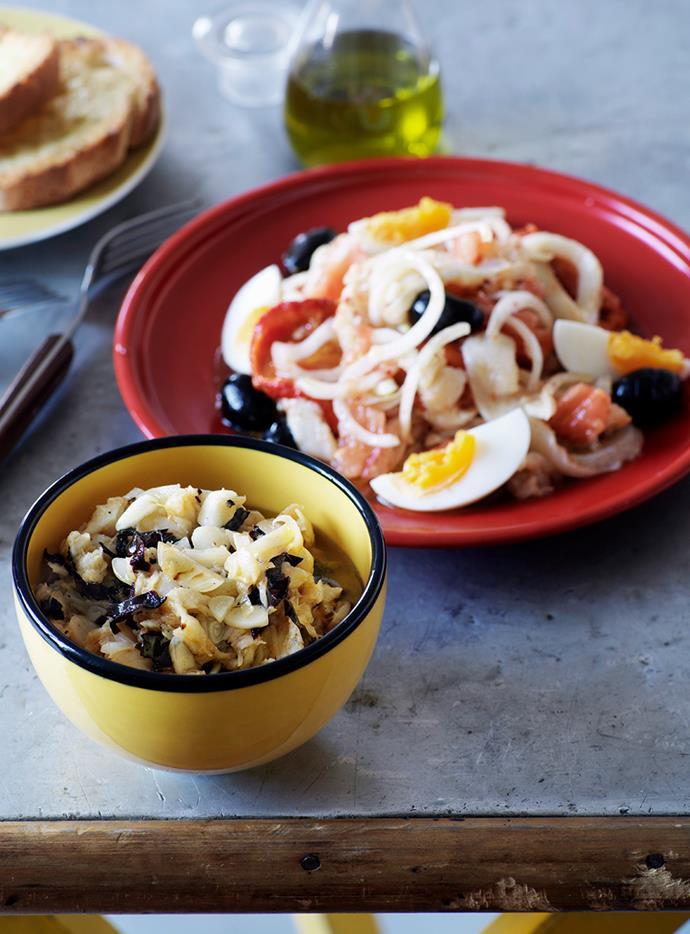 "**[Pericana (Salt cod, garlic and chilli dip)](https://www.gourmettraveller.com.au/recipes/browse-all/pericana-salt-cod-garlic-and-chilli-dip-9811 target=""_blank"")**"
