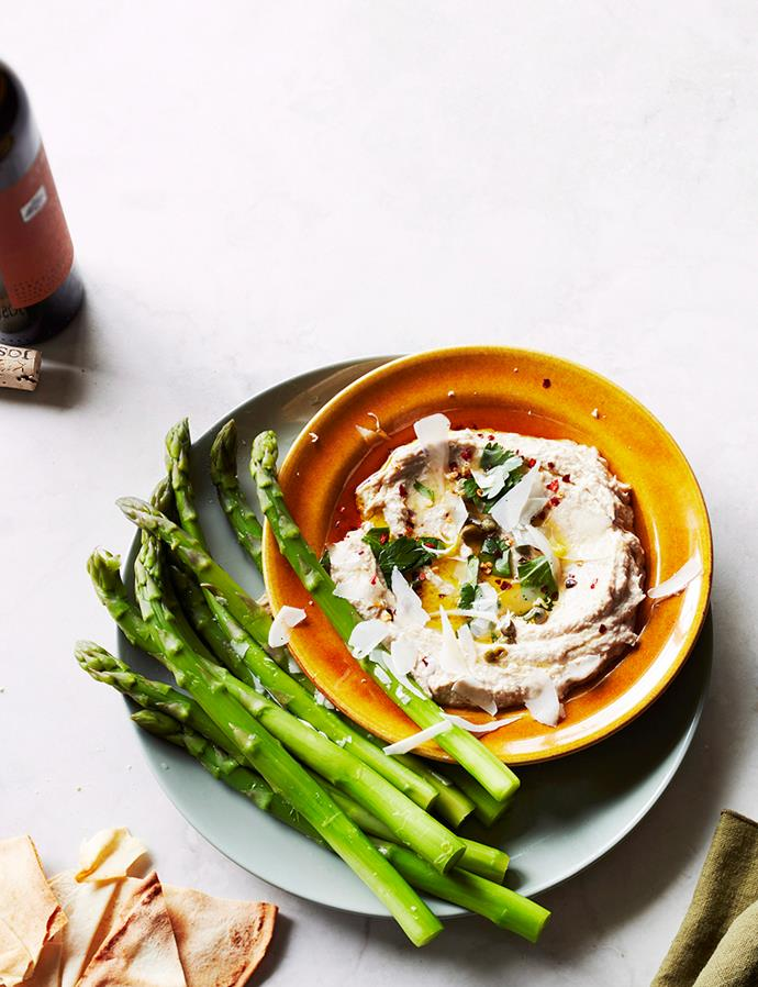"**[Tonnato with asparagus](https://www.gourmettraveller.com.au/recipes/fast-recipes/tonnato-16810|target=""_blank"")**"