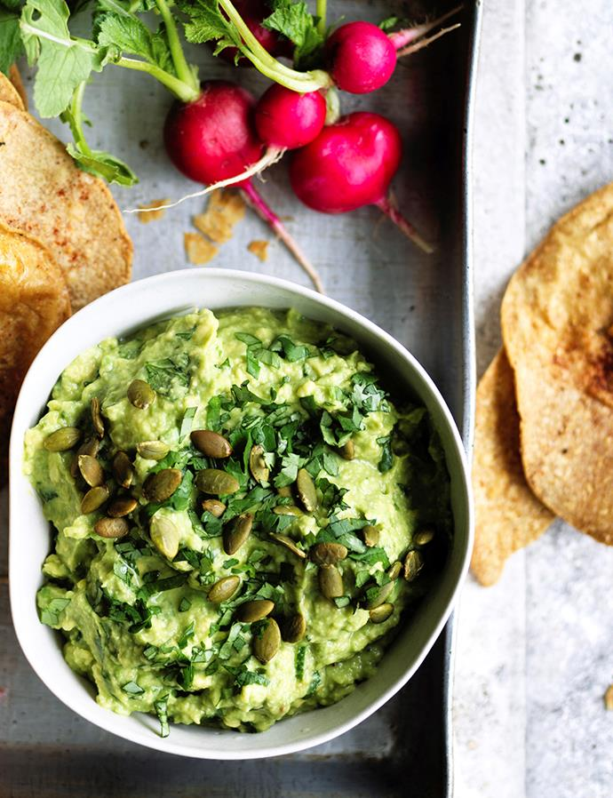 "**[Rough guacamole](https://www.gourmettraveller.com.au/recipes/browse-all/rough-guacamole-15671|target=""_blank"")**"
