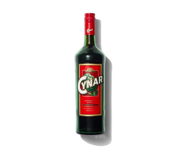 **Cynar**  Made by Campari, this relatively young (mid-'60s in age) amaro is made predominantly from artichoke and considered both an aperitivo and digestivo. It is savoury and bittersweet; perfect as it is after dinner, but also friendly enough to play alongside other flavours. Add a splash to a classic Manhattan for extra depth and complexity, or simply serve it tall with tonic or bitter lemon.