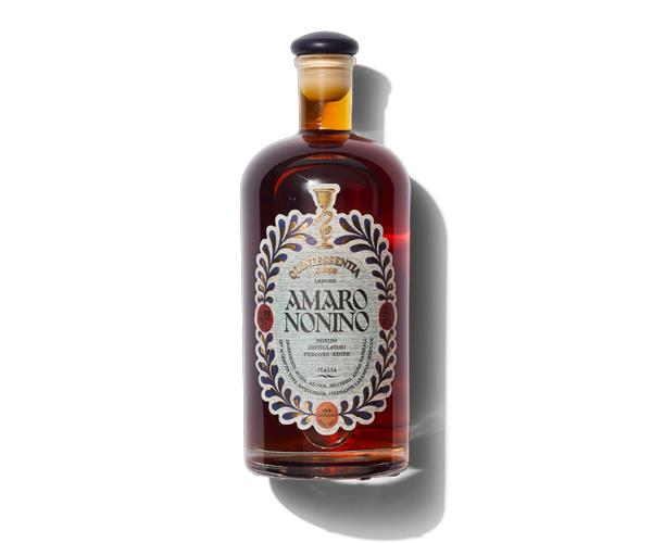 **Amaro Nonino**  Nonino is grappa-based, so it's bursting with bright fruit flavours. Think extra pithy marmalade tempered by herbal notes of thyme and menthol. This one is great on the rocks with an orange wedge, used in place of vermouth in a classic Rob Roy, and to create one of our house favourites, the Training Day cocktail.