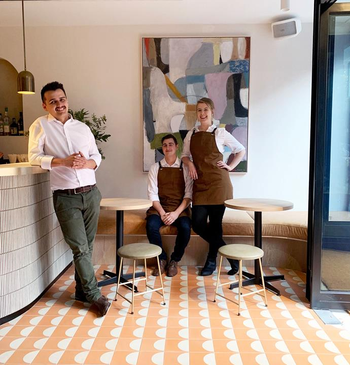 Paloma Bar and Pantry general manager Luke Fleming (from left), chef Louis Halstead and front-of-house 2IC Vanessa Rech.