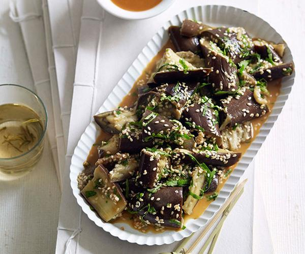"**[Shandong-style steamed eggplant with sesame dressing](https://www.gourmettraveller.com.au/recipes/chefs-recipes/steamed-eggplant-shandong-style-7243|target=""_blank"")**"