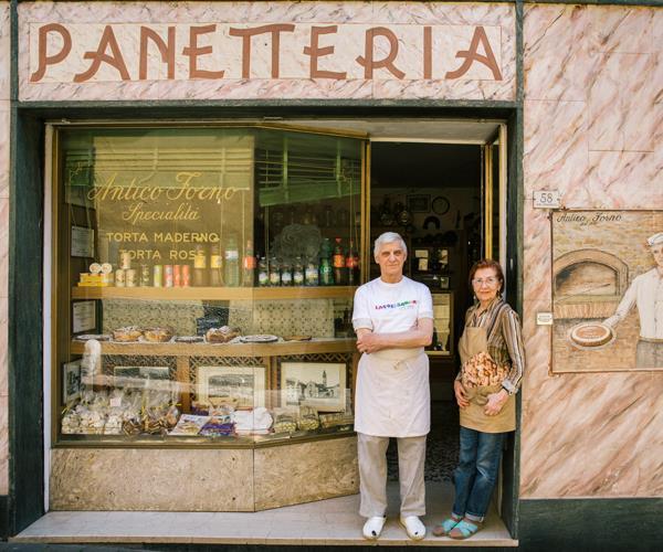 Siblings Giuseppe and Maria Perolini of Panetteria Perolini in Toscolano-Maderno.