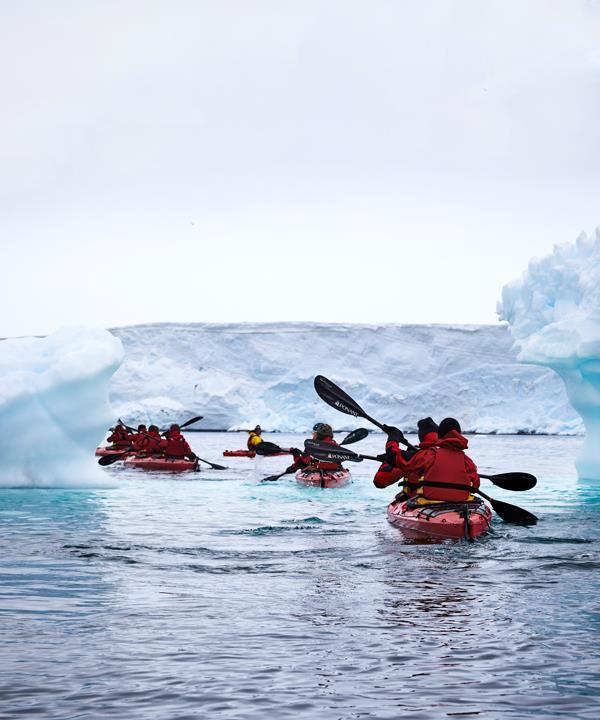 Sea-kayaking near Damoy Point.