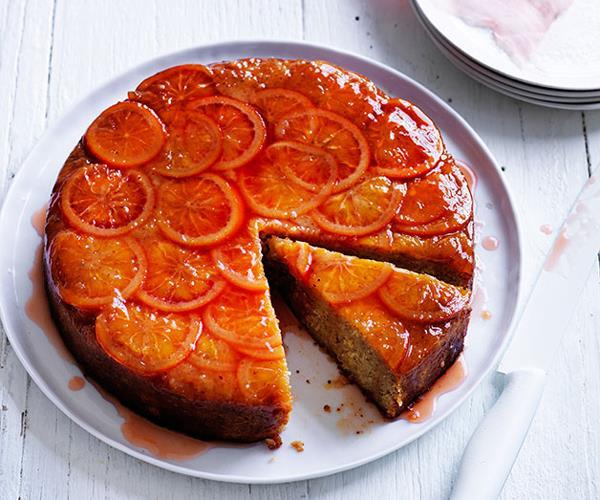 Blood orange and hazelnut cake