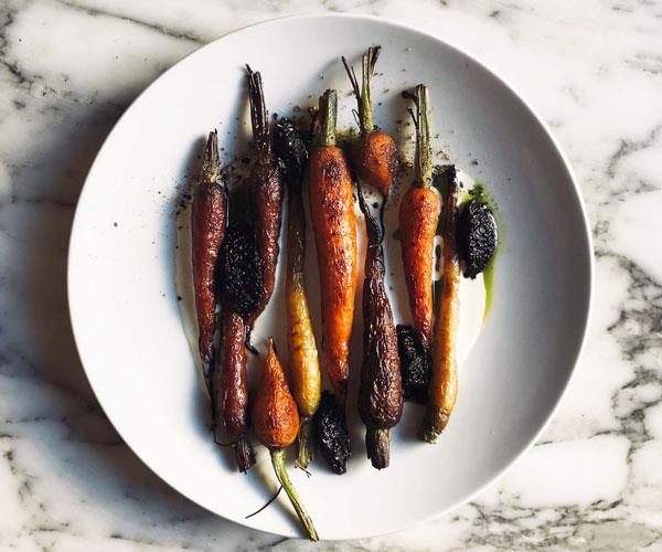 Ester's dish of woodfired carrots.