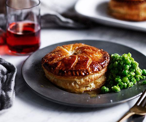 """**[Chicken, spring onion and tarragon Pithiviers](https://www.gourmettraveller.com.au/recipes/browse-all/chicken-spring-onion-and-tarragon-pithiviers-12085