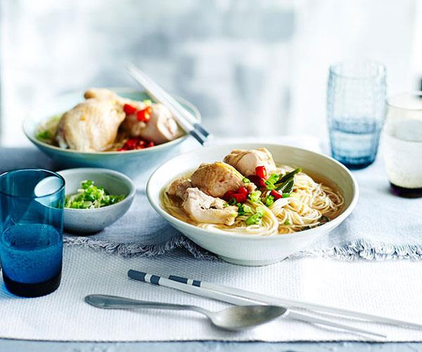 "**[Drunken chicken with Shandong ramen noodles](https://www.gourmettraveller.com.au/recipes/fast-recipes/drunken-chicken-with-shandong-ramen-noodles-13470|target=""_blank"")**"