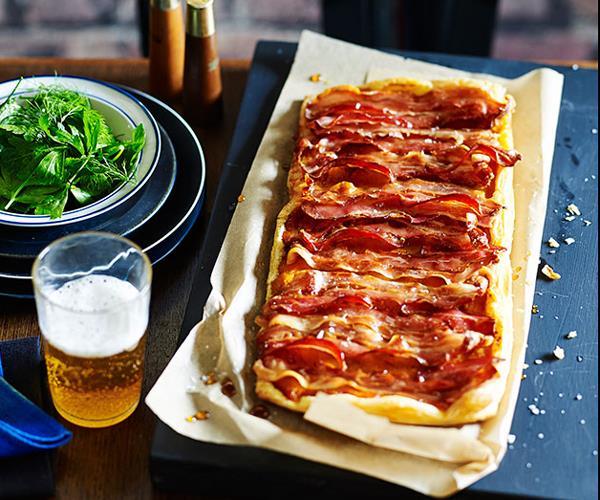 "**[Pinbone's maple, bacon and pumpkin tart](https://www.gourmettraveller.com.au/recipes/browse-all/maple-bacon-and-pumpkin-tart-13974|target=""_blank"")**"
