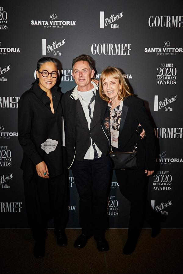 The one and only Kylie Kwong with Sean Moran and Beverley Woods of Sean's.