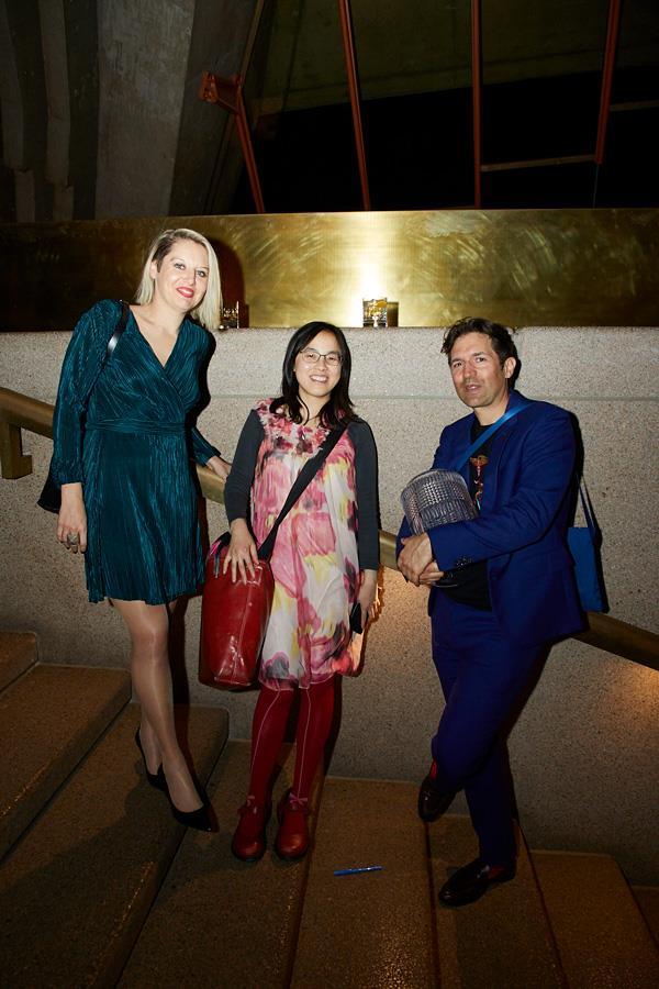 Sarah Norris (Broadsheet Sydney), Lee Tran Lam (*Gourmet Traveller* news editor) and Ben Shewry (Attica).