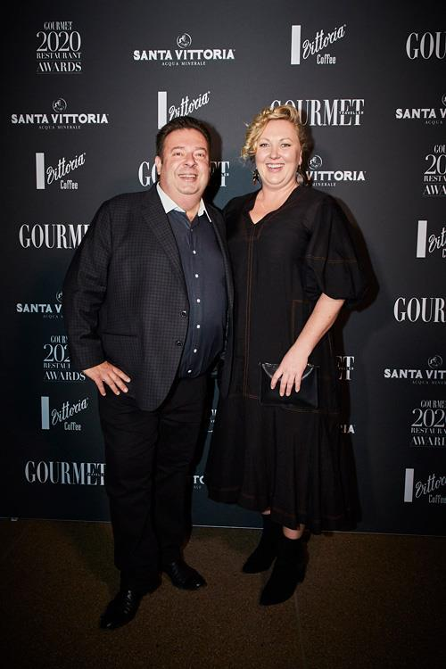 Quay and Bennelong executive chef Peter Gilmore with *Gourmet Traveller* acting editor Amy Reedy.