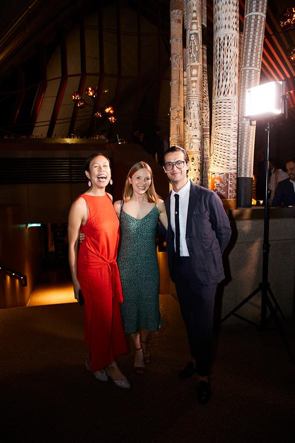 *Gourmet Traveller's* Yvonne C Lam (digital editor), Emma Holland (subeditor) and Matthew Hirsch (assistant guide editor).