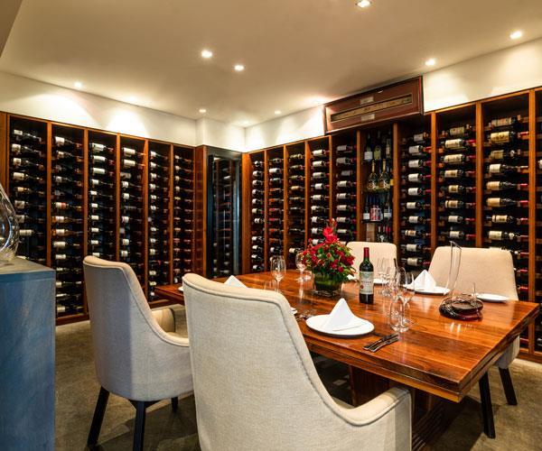 The wine cellar at Sun Kitchen.