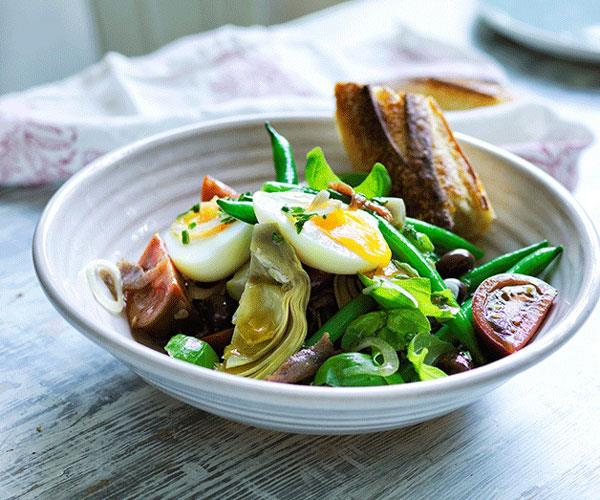 "**[Artichoke Niçoise salad](https://www.gourmettraveller.com.au/recipes/browse-all/artichoke-nicoise-salad-12616|target=""_blank"")**"