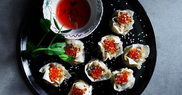 Siu mai recipe with sticky rice, pork and scallop