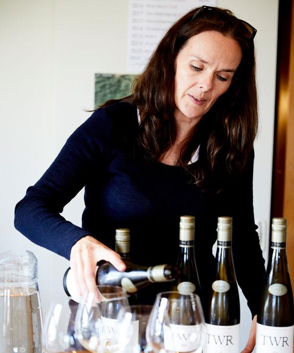 Te Whare Ra Vineyard & Winery co-owner Anna Flowerday.