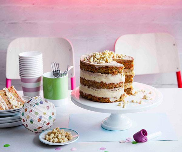 "**[Christina Tosi's carrot layer cake](https://www.gourmettraveller.com.au/recipes/browse-all/carrot-layer-cake-11200|target=""_blank"")**"