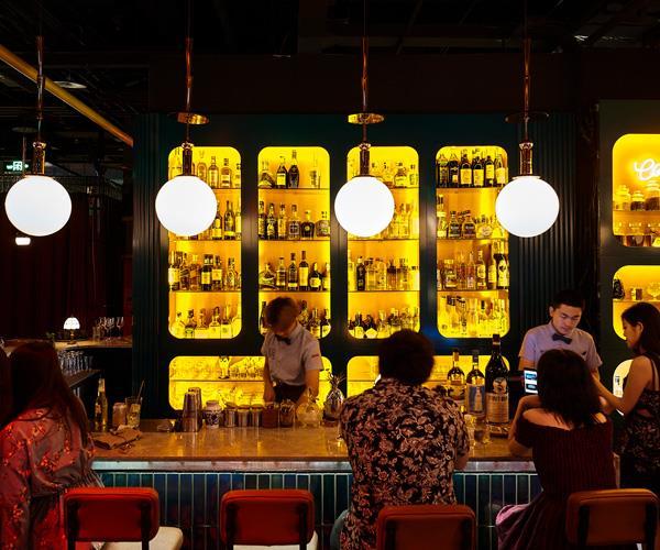 The bar at Migas Mercado.