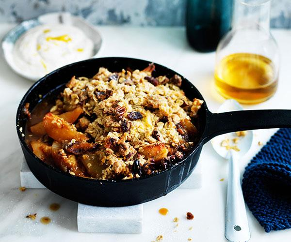 "**[Maple pear and muesli crumble](https://www.gourmettraveller.com.au/recipes/browse-all/maple-pear-and-muesli-crumble-12532|target=""_blank"")**"