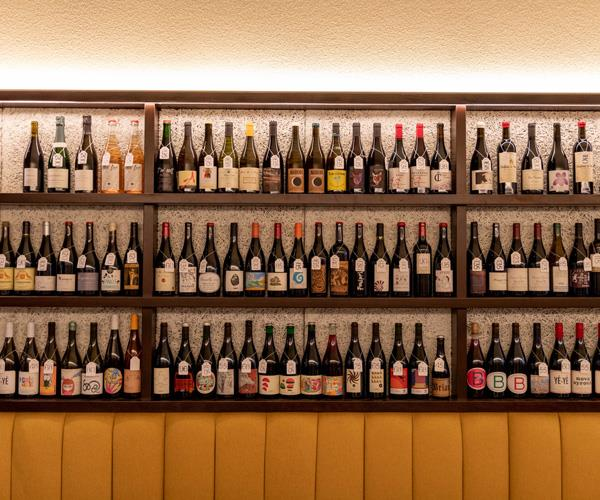 A selection of the 400-plus bottles that line the walls at Leigh Street Wine Room.