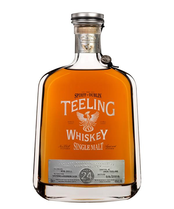 Teeling Whiskey 24-Year-Old Single  Malt, Dublin, $600