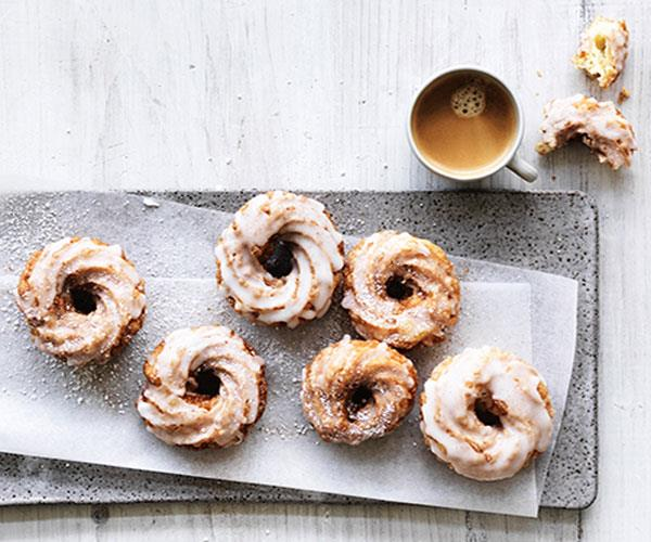 "**[French crullers](https://www.gourmettraveller.com.au/recipes/browse-all/french-crullers-12801|target=""_blank"")**"