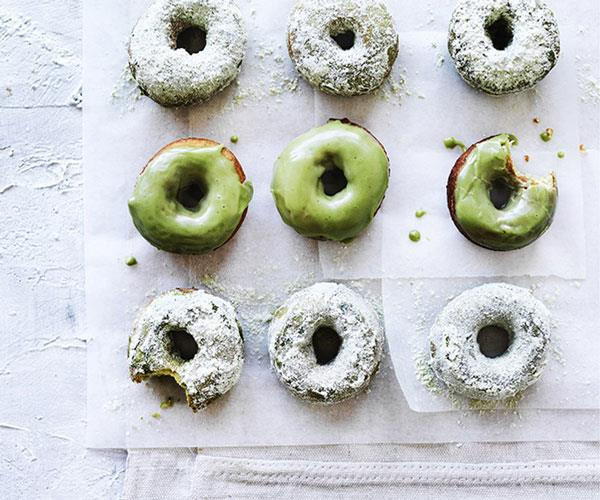 "[**Matcha doughnuts**](https://www.gourmettraveller.com.au/recipes/browse-all/matcha-doughnuts-12747|target=""_blank"")"