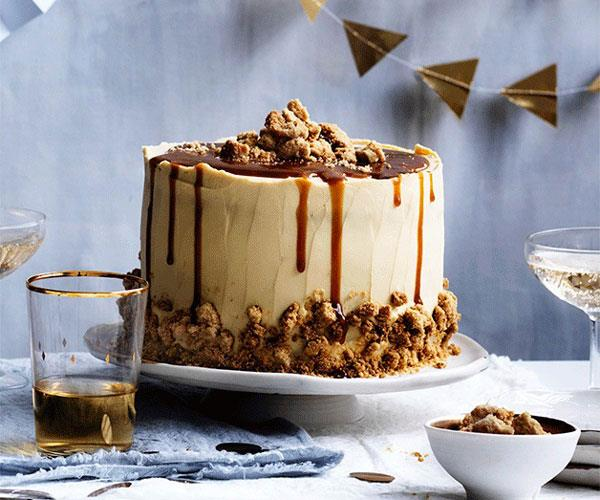 """**[Salted caramel layer cake](https://www.gourmettraveller.com.au/recipes/browse-all/salted-caramel-layer-cake-12599