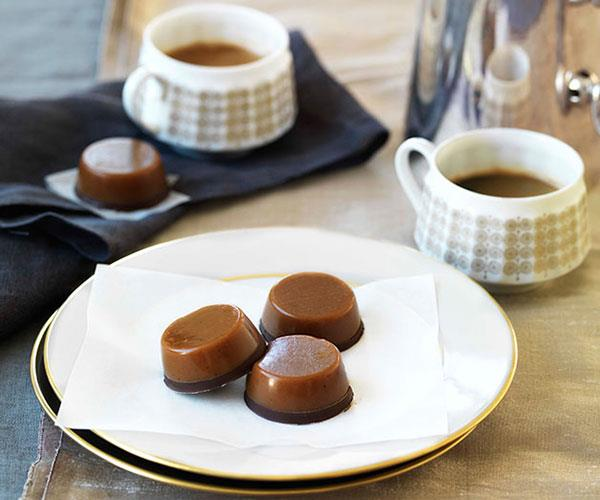 """**[Chewy salted caramel chocolates](https://www.gourmettraveller.com.au/recipes/browse-all/chewy-salted-caramel-chocolates-10113