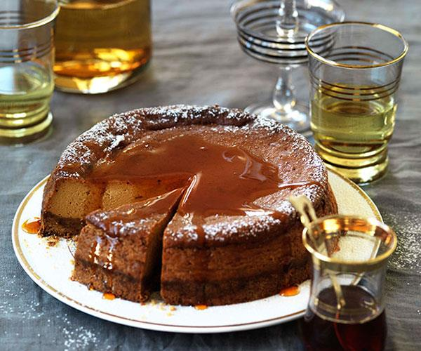 "**[Caramel yoghurt cheesecake](https://www.gourmettraveller.com.au/recipes/browse-all/caramel-yoghurt-cheesecake-10110|target=""_blank"")**"
