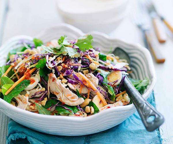 "**[Vibrant chicken salad recipes](https://www.gourmettraveller.com.au/recipes/recipe-collections/chicken-salad-recipes-17876|target=""_blank"")**"