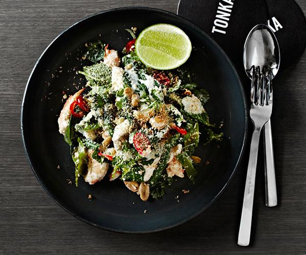 "**[Prawn, chicken and wing bean salad](https://www.gourmettraveller.com.au/recipes/chefs-recipes/prawn-chicken-and-wing-bean-salad-7906|target=""_blank"")**"