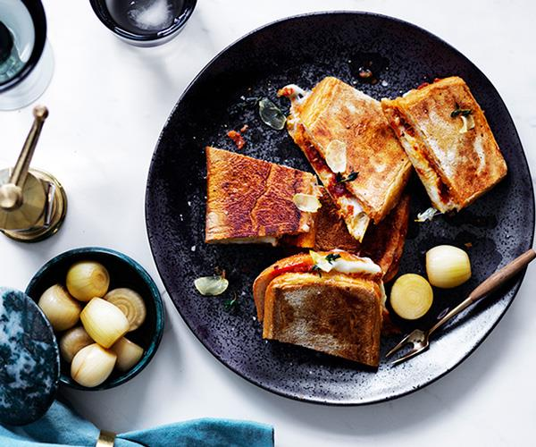 "[**'Nduja and mozzarella ciabatta with garlic and thyme oil**](https://www.gourmettraveller.com.au/recipes/browse-all/nduja-and-mozzarella-ciabatta-with-garlic-and-thyme-oil-12587|target=""_blank"")"