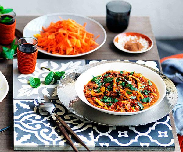 "**[Paula Wolfert's orange and grated carrot salad with orange-flower water](https://www.gourmettraveller.com.au/recipes/browse-all/orange-and-grated-carrot-salad-with-orange-flower-water-11214|target=""_blank"")**"