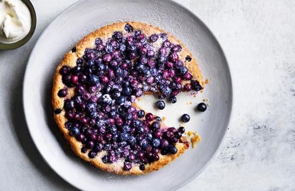 Dave Pynt's blueberry tart