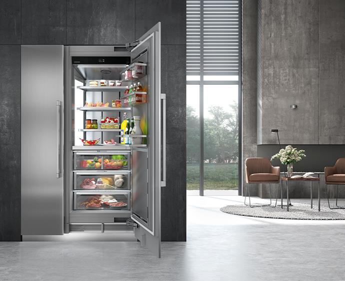 "A refrigerator that is the epitome of modern kitchen luxe. BioFresh technology keeps your food fresh for longer, while inbuilt features like a water dispenser and ice maker are combined with the InfinitySwipe touch-screen to control every function for a flawless, user-friendly experience. Plus, it's been designed to be energy-efficient, so it's good for both the environment and your power bill.  <br><br> And the best part? It comes in a variety of finishes and sizes, which means this fridge can be integrated into any kitchen.  <br><br> [Liebherr Monolith EK 9671 refrigerator](https://home.liebherr.com/en/aus/apac/household-appliances/built-in-appliances-household/monolith-apac/monolith-apac.html|target=""_blank""