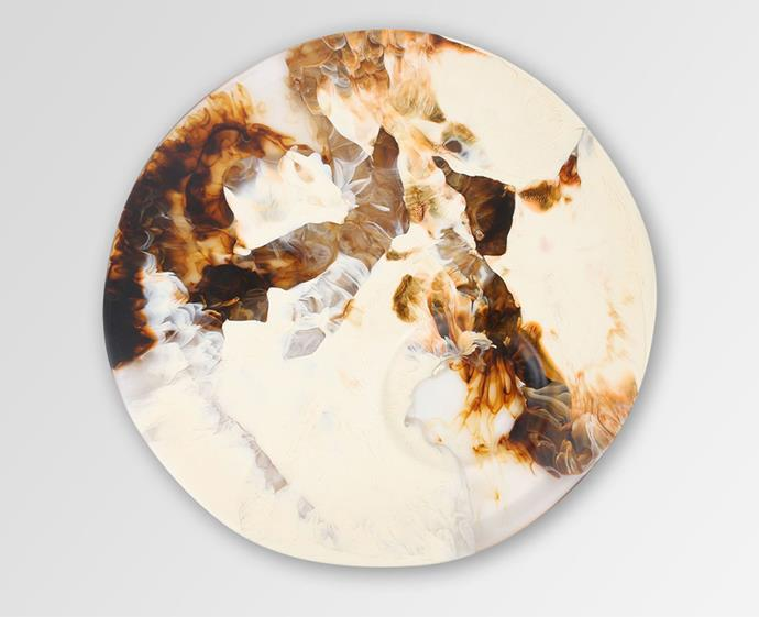 "This eye-catching Australian-made cheese platter is a statement centrepiece for your table. Plus it's available in 13 colourways – the hardest part will be choosing just one. <br><br> [Dinosaur Designs Resin Moon Cheese Platter](https://www.dinosaurdesigns.com.au/products/resin-moon-cheese-platter-light-horn|target=""_blank""