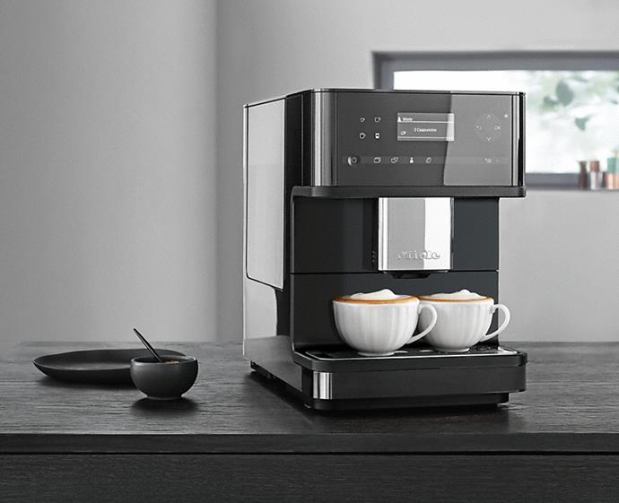 "Coffee connoisseurs will enjoy this sleek bench-top machine that pours the perfect brew at the touch of a button. With programmable user files, you can customise your coffee for any guest or member of the family, making morning rituals and after-dinner coffees a breeze. <br><br> [Miele CM 6150 Benchtop Coffee Machine](https://shop.miele.com.au/en/kitchen/coffee-machines/freestanding-coffee-machines/cm-6150-benchtop-coffee-machine-obsidian-black-zid10634780|target=""_blank""