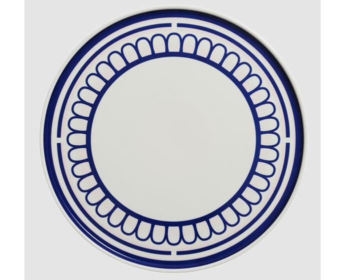 "In The Roundhouse's mix-and-match collection of crockery means you can configure your dining set to suit any occasion. From playful typography to sophisticated patterns and prints, their collections of bone china will bring instant charm to the table.  <br><br> [In The Roundhouse The Blue and Pink Scallop plate](https://www.intheround.house/collections/the-blue-collection/products/the-blue-and-pink-scallop|target=""_blank""