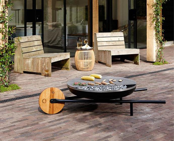 "Look no further than this all-in-one fire bowl, grill and ice bucket for the summer entertainment season. This portable barrow can be converted from a grill to fire pit, and is  easily transported from one spot the another. It's the outdoor entertainer's dream garget. <br><br> Konstantin Slawinski Barrow Fire Bowl + Grill, $1330, [top3](https://top3.com.au/categories/outdoor-and-pet/fires/barrow-fire-pit/sl055|target=""_blank""