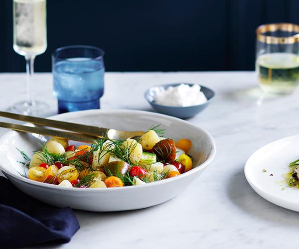 "**[Beau Clugston's potato salad and horseradish cream](https://www.gourmettraveller.com.au/recipes/browse-all/potato-salad-and-horseradish-cream-12783|target=""_blank"")**"