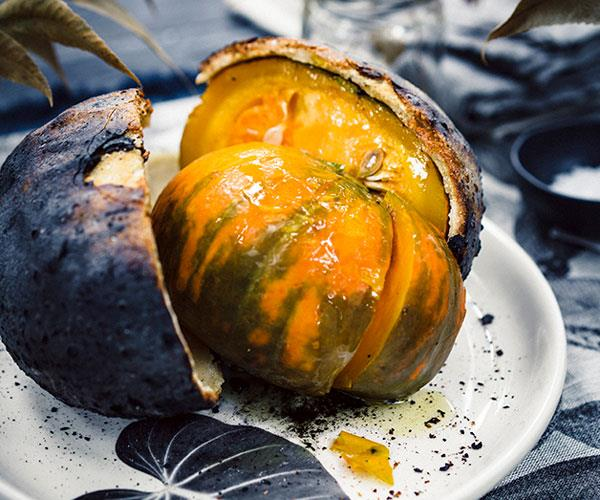 "**[Peter Gilmore's salt-baked pumpkin with Pyengana cream and toasted grains recipe](https://www.gourmettraveller.com.au/recipes/chefs-recipes/salt-baked-pumpkin-with-pyengana-cream-and-toasted-grains-8442|target=""_blank"")**"