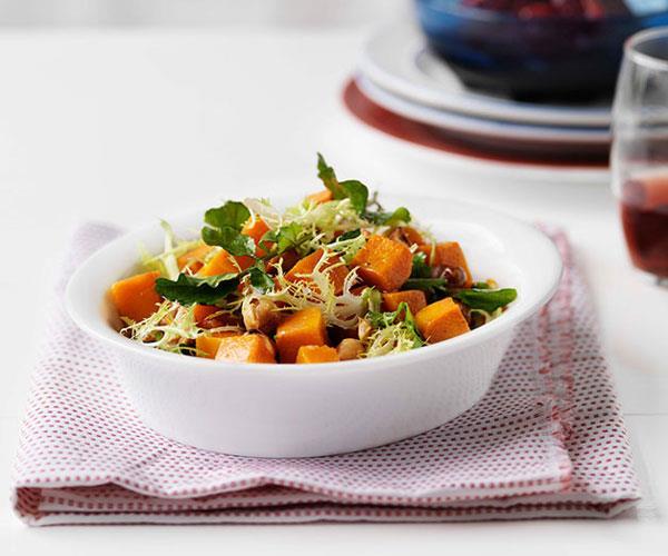 "**[Butternut pumpkin, hazelnut and blood orange salad](https://www.gourmettraveller.com.au/recipes/chefs-recipes/butternut-pumpkin-hazelnut-and-blood-orange-salad-7256|target=""_blank"")**"