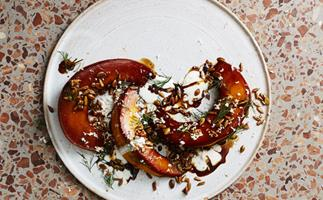 Etta's tamari-roasted pumpkin, sunflower and horseradish