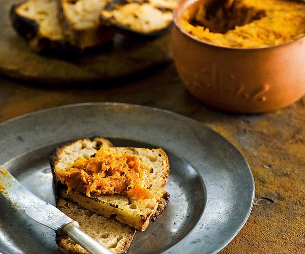 "[**Morcilla de Calabaza (spicy pork and pumpkin pâté)**](https://www.gourmettraveller.com.au/recipes/chefs-recipes/frank-camorra-morcilla-de-calabaza-spicy-pork-and-pumpkin-pate-7374|target=""_blank"")"