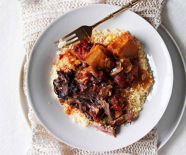 "[**Braised pumpkin and lamb neck**](https://www.gourmettraveller.com.au/recipes/browse-all/braised-pumpkin-and-lamb-neck-10483|target=""_blank"")"