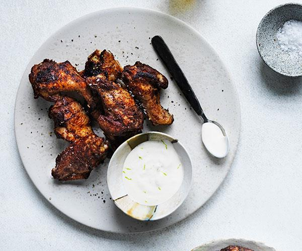 "**[Dave Pynt's Jamaican chicken wings](https://www.gourmettraveller.com.au/recipes/browse-all/jamaican-chicken-wings-12879|target=""_blank"")**"